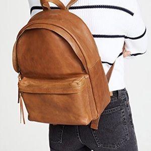Madewell Lorimer Leather Backpack English Saddle